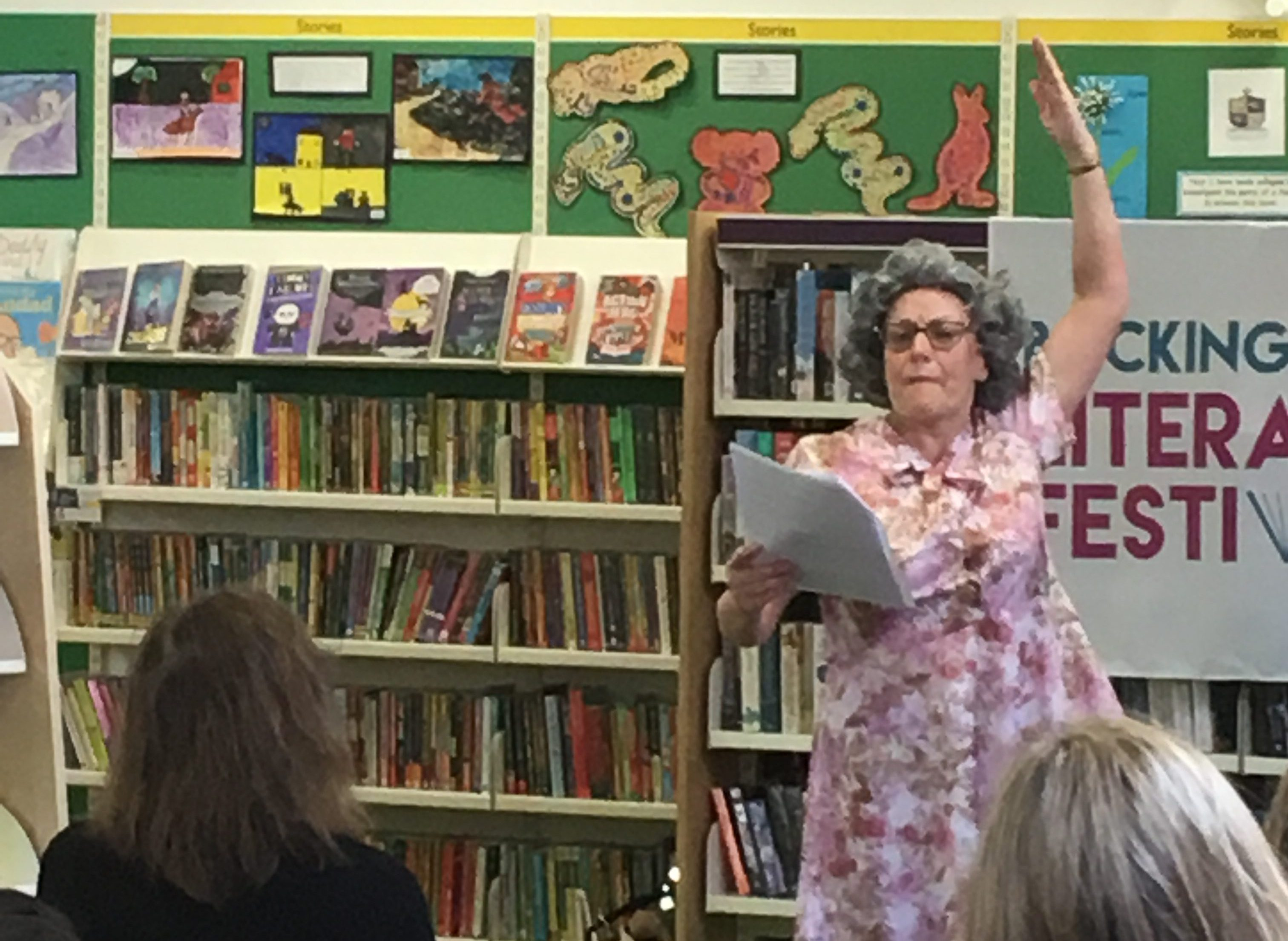 Performing at the library